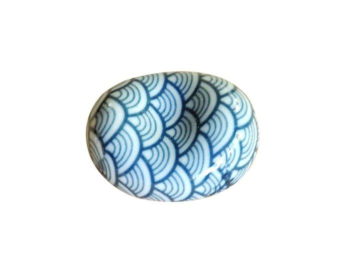 odkládátko kamínke modrý