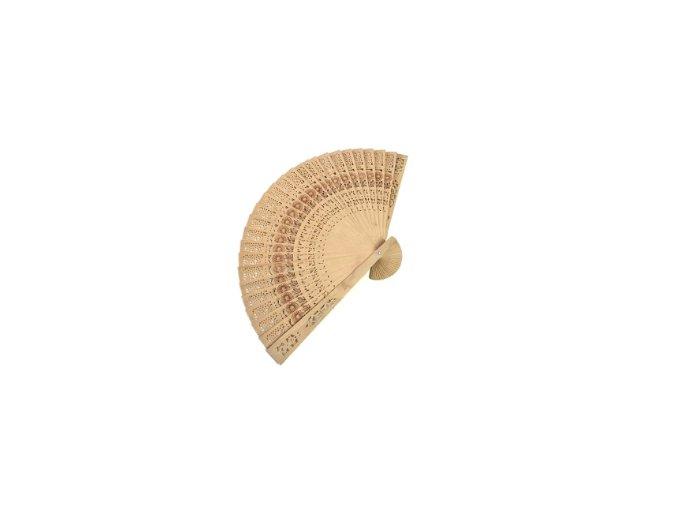 vějíř dřevěný