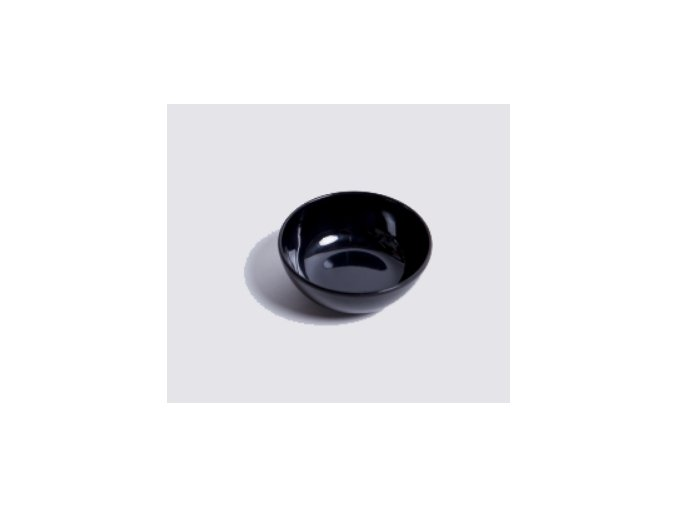 melaninová miska černá