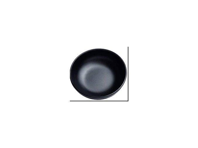 melaninová miska černá větší